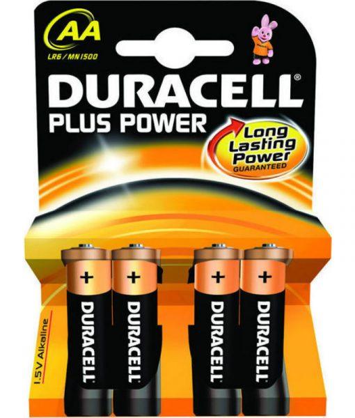 Duracell Plus AA 4×1.5V LR6 Alkaline Batteries 81417775