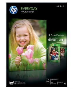 HP Everyday Glossy Photo Paper A4 200gm² 100Sht Q2510A