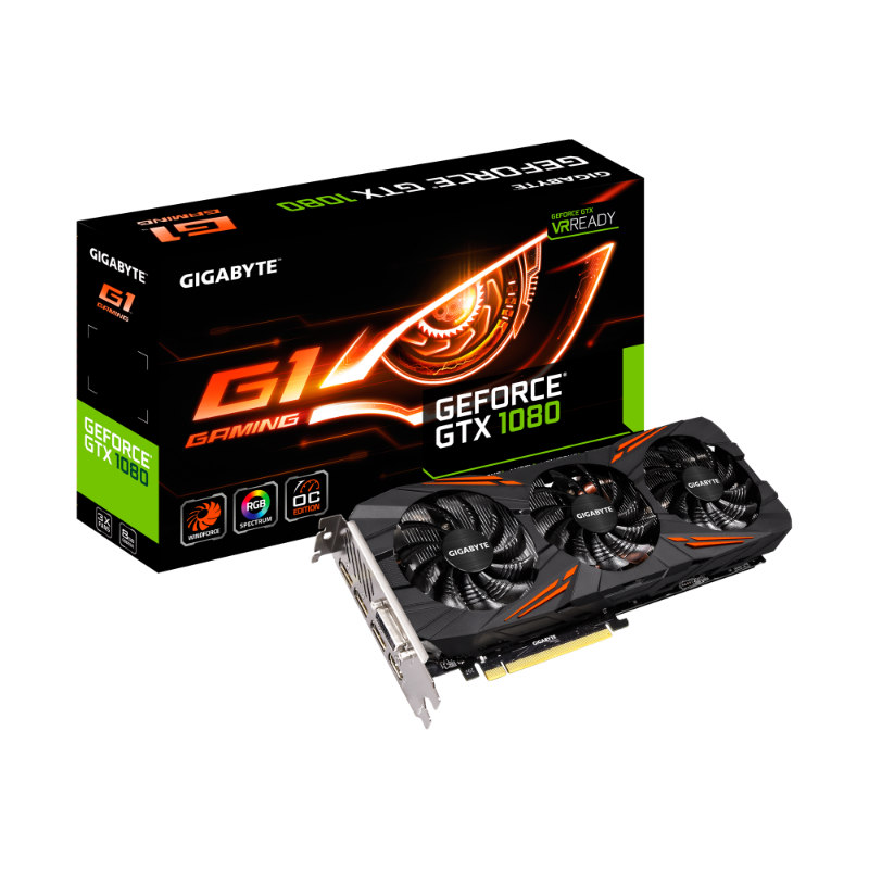 Gigabyte GeForce GTX 1080 G1 Gaming 8G 8GB GDDR5X GV-N1080G1 GAMING-8GD