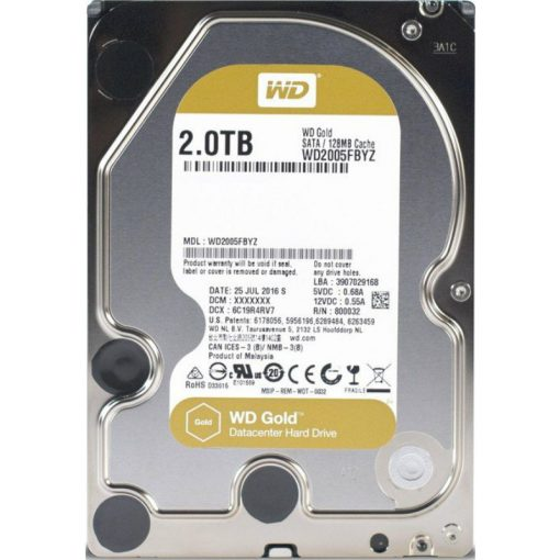 Western Digital Gold Datacenter 2TB Sata III