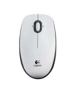 Logitech B100 Wired Optical Mouse White 910-003360