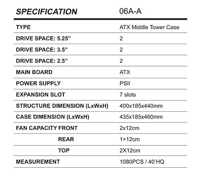 06A SPECIFICATION