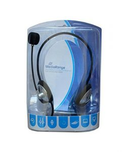 MediaRange Headset BlackSilver MROS302