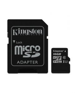 Kingston Canvas Select MicroSDHC 16GB UHS-I + SD Adapter SDCS16GB