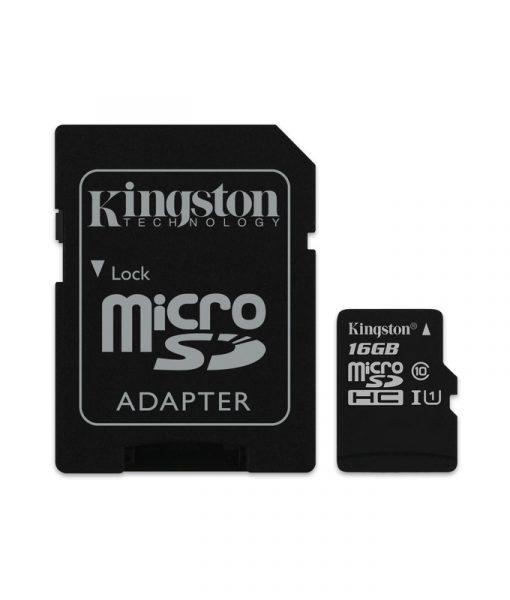 Kingston Canvas Select MicroSDHC 16GB UHS-I + SD Adapter SDCS16GB