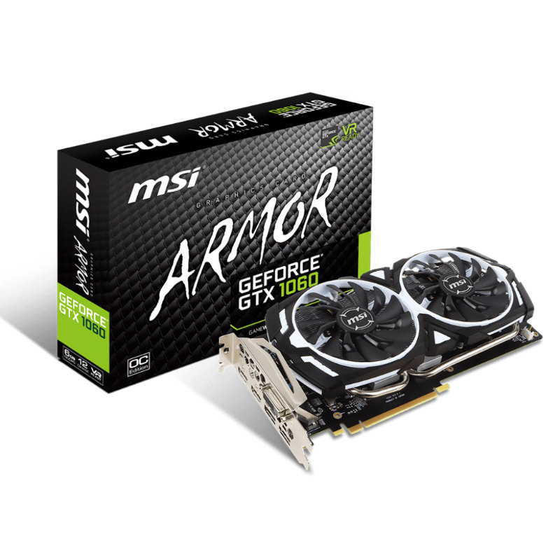 MSI GeForce GTX 1060 Armor 6G OCV1 6GB GDDR5 V328-023R