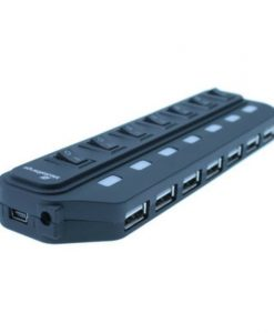 MediaRange 7-Port USB 2.0 Bus Powered Hub Black MRCS504_1