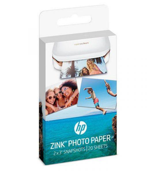 HP ZINK Sprocket Sticky-Backed Photo Paper 20Sht5x7.6cm W4Z13A