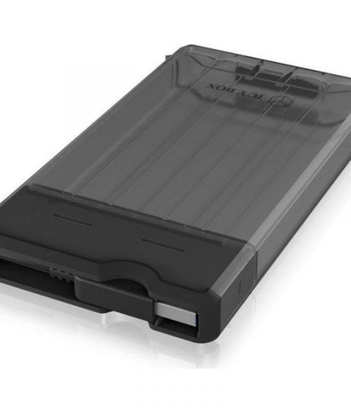 RaidSonic Icy Box Sata 2.5 USB 3.0 HDDSSD 9.5mm External Enclosure Black IB-235-U3_1