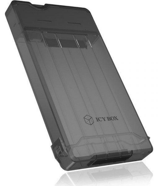 RaidSonic Icy Box Sata 2.5 USB 3.0 HDDSSD 9.5mm External Enclosure Black IB-235-U3_2