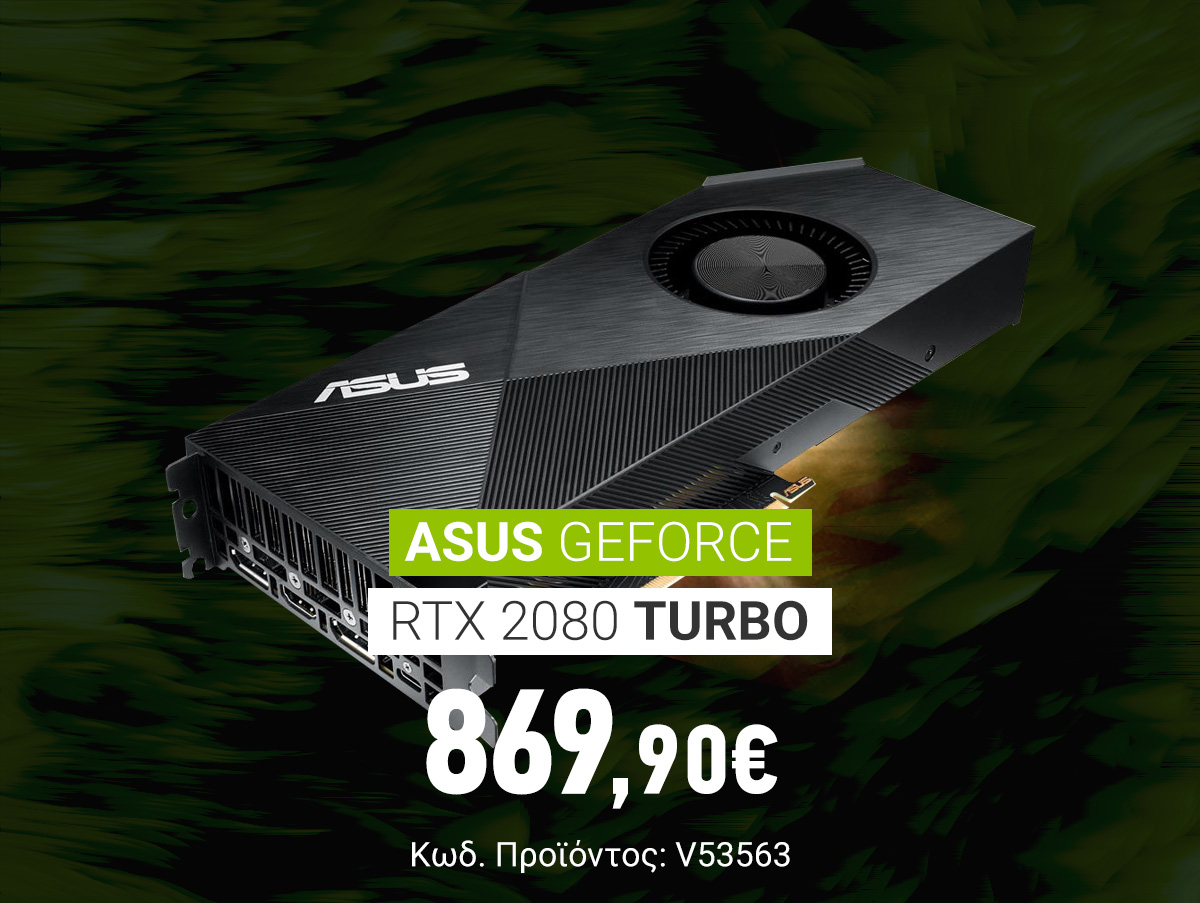 V53563_Asus GeForce RTX 2080 Turbo 8GB GDDR6 TURBO-RTX2080-8G