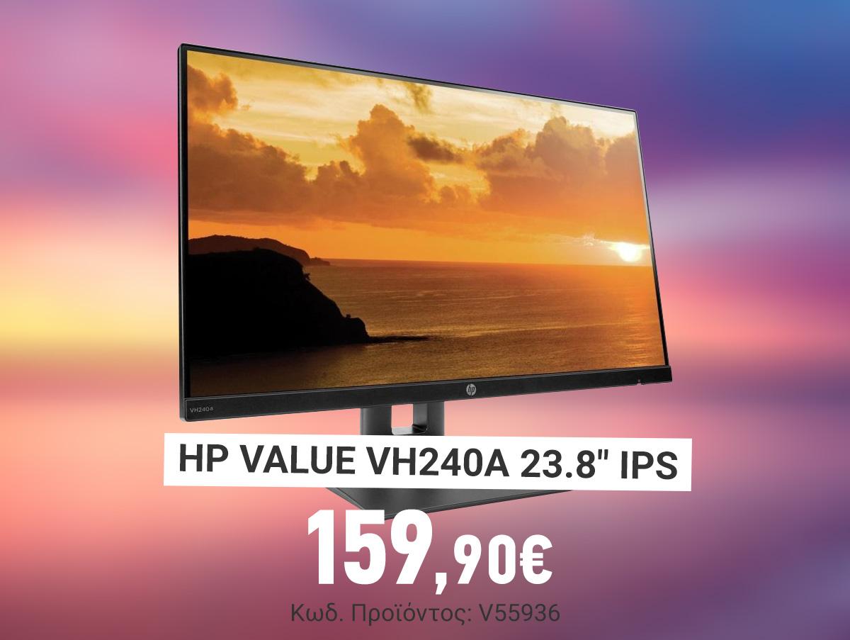 V55936 HP Value VH240A 23.8 IPS Monitor 1KL30AA