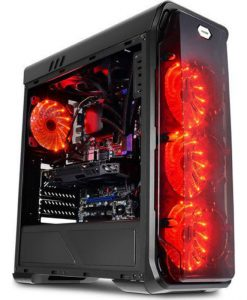 E-GATE™ AMD Swift Red Typhon (RYZEN 5 260016GB1TB+240GBRX580No OS)
