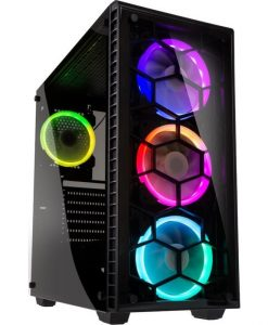 Kolink Observatory RGB Midi Tower Tempred Glass Black GEKL-035
