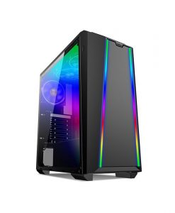SuperCase Predator PR08A Midi Tower Acrylic Window Black – V65215