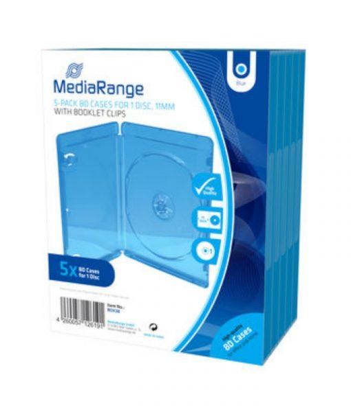 MediaRange BD Case for 1 Disc 1mm Blue 5 Pack BOX38_1