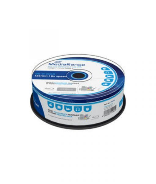 MediaRange BD-R Printable 25GB 6x 25 Pack Cake MR515