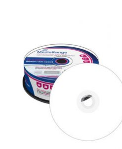 MediaRange CD-R Waterproof Printable 700MB 52x 25 Pack Cake MRPL512