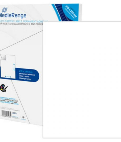 MediaRange Multi-purpose Labels A4 Permanent Adhesice White 50 Pack MRINK140