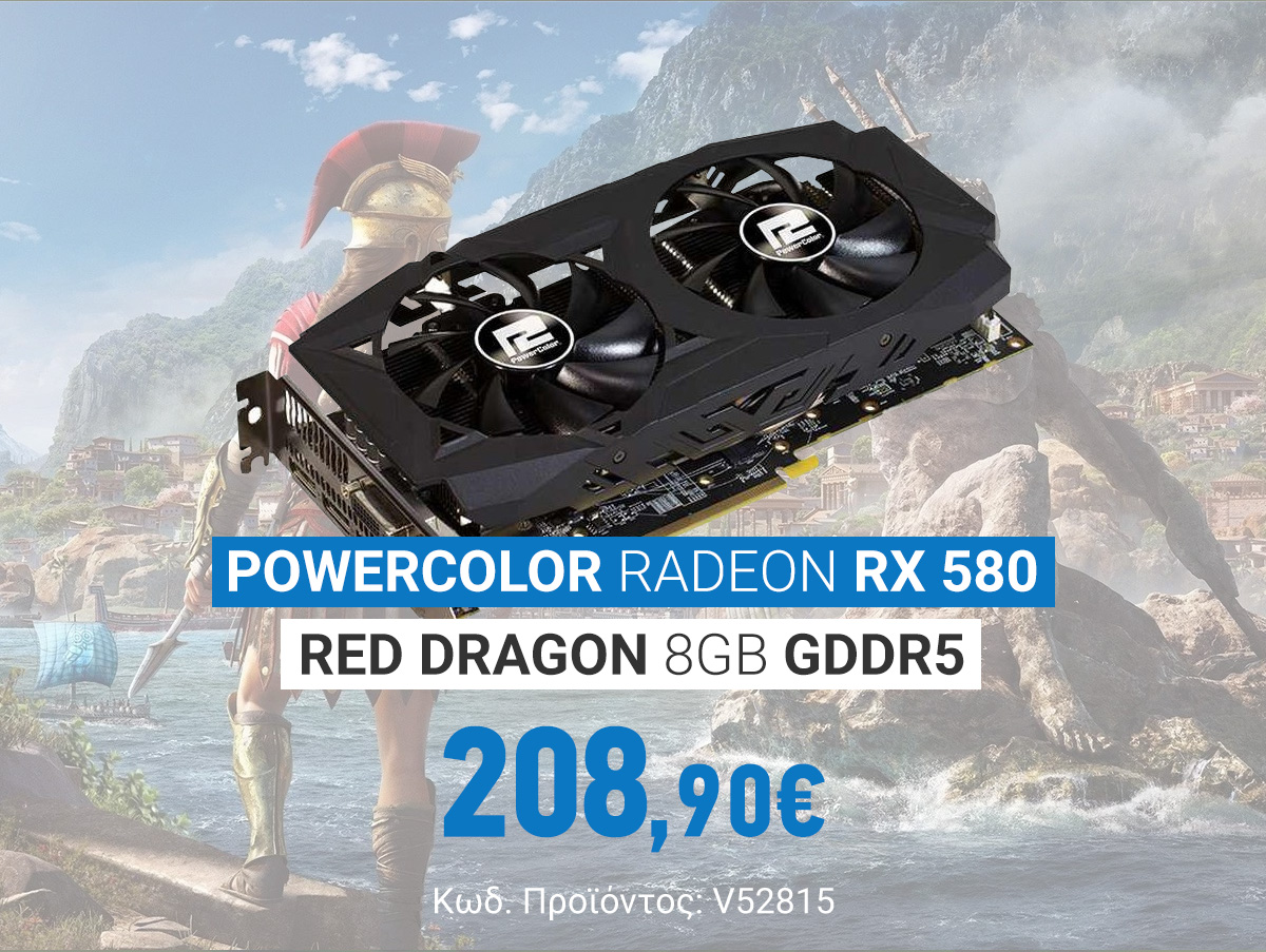 V52815 PowerColor Radeon RX 580 Red Dragon 8GB GDDR5 AXRX 580 8GBD5-3DHDV2_OC v2