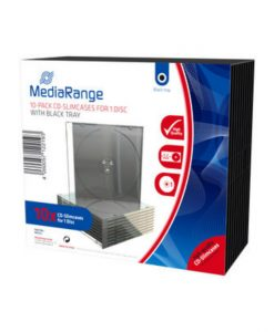 MediaRange CD Slimcase for 1 Disc 5.2mm Black Tray 10 Pack BOX32