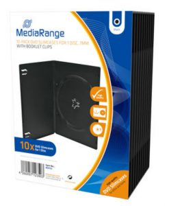 MediaRange DVD Slimcase for 1 Disc 7mm 10 Pack Black BOX33