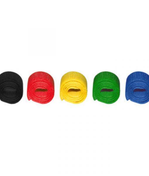 MediaRange Hook and Loop Cable Ties 16 x 215mm Assorted Colors 5Pack MRCS302_1