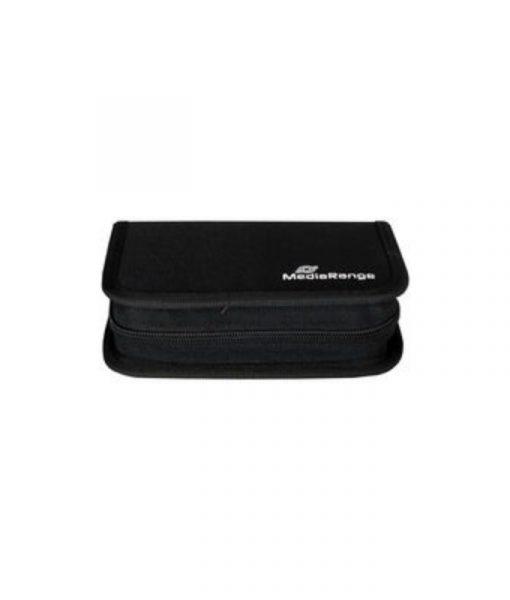 MediaRange Media Storage Wallet for 6 USB Flash Drives & 3 SD Memory Cards Nylon Black BOX98_2