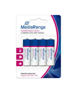 MediaRange Super Heavy Duty Carbon-Zinc Batteries Mignon AA R6 1.5V 4Pack MRBAT144