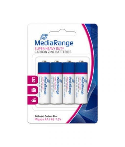 MediaRange Super Heavy Duty Carbon-Zinc Batteries Mignon AA R6 1.5V 4Pack MRBAT144