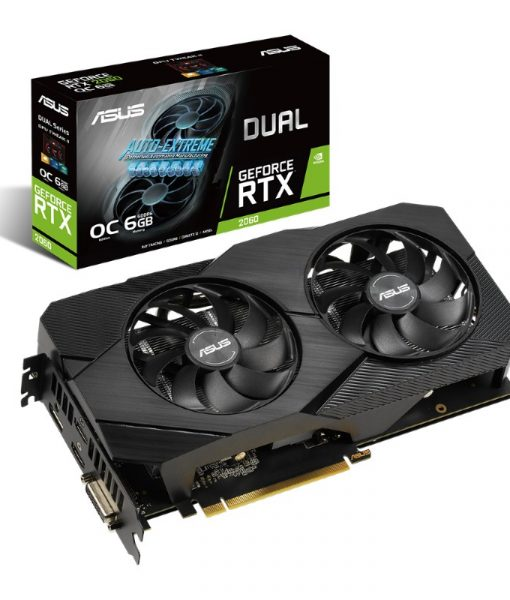Asus GeForce RTX 2060 Dual OC Evo 6GB GDDR6 DUAL-RTX2060-O6G-EVO