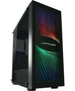 LC-Power 800b Interlayer X Midi Tower Tempered Glass Black LC-800B-ON