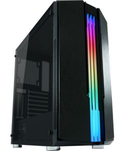LC-Power Gaming 702B Skyscraper X RGB Midi Tower Tempered Glass Black LC-702B-ON