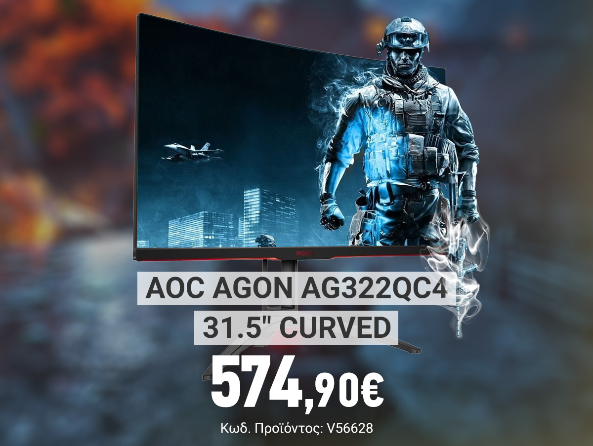 V56628_AOC Agon AG322QC4 31.5 Curved HDR400 FreeSync2 Gaming Monitor