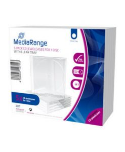 MediaRange CD Jewelcase 10.4mm 5-Pack Transparent BOX31-T