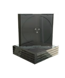 MediaRange CD Jewelcase 10.4mm Transparent with Black Tray BOX22