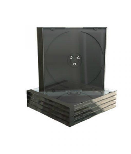 MediaRange CD Jewelcase 10.4mm Transparent with Black Tray BOX22