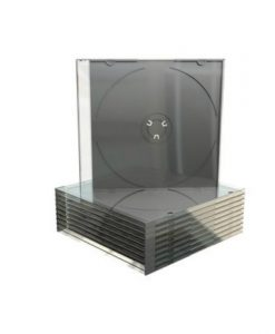 MediaRange CD Slimcase 5.2mm Transparent with Black Tray BOX21