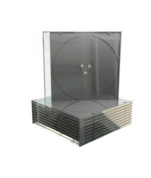 MediaRange CD Slimcase 5.2mm Transparent with Black Tray BOX21
