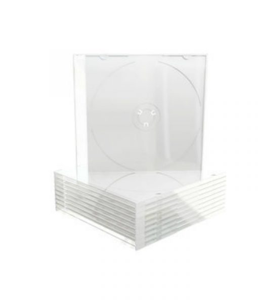 MediaRange CD Slimcase 5.2mm Transparent with Frosted-Clear Tray BOX20