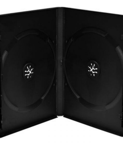 MediaRange DVD Case for 2 Discs 14mm 5-Pack Black BOX30-2_1