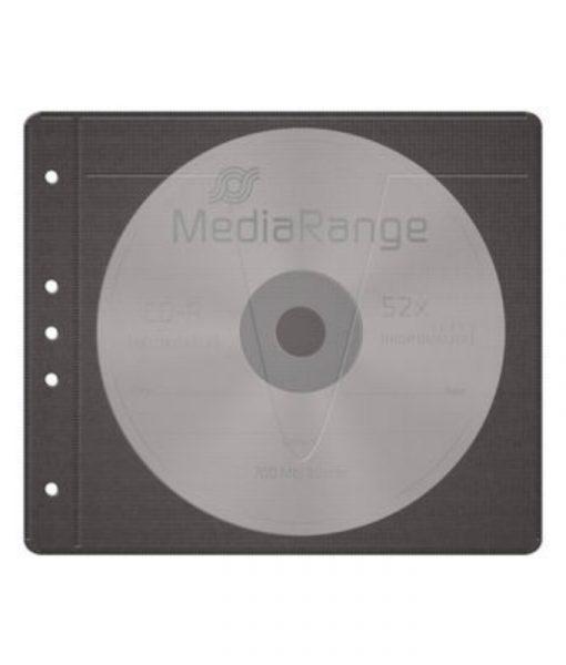 MediaRange Fleece Sleeves for 2 Discs 50-Pack Black BOX61_2
