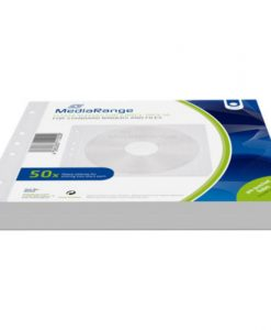 MediaRange Fleece Sleeves for 2 Discs 50-Pack White BOX60