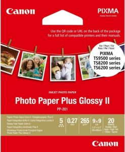 Canon PP-201 Glossy II Photo Paper Plus 9x9cm 265gr 20 Sheets 2311B070