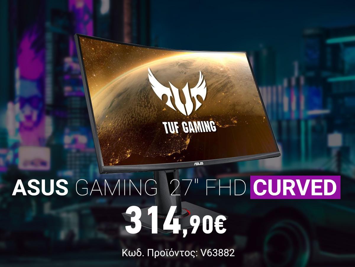 V63882 Asus TUF Gaming VG27VQ 27 FHD VA Curved Monitor 90LM0510-B01E70