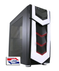 LC-Power Gaming 987B Silent Stinger ATX Gaming Case-V77679