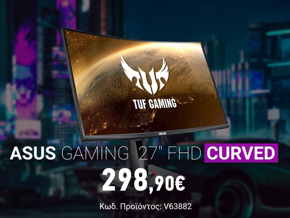 V63882 Asus TUF Gaming VG27VQ 27 FHD VA Curved Monitor 90LM0510-B01E70 v2