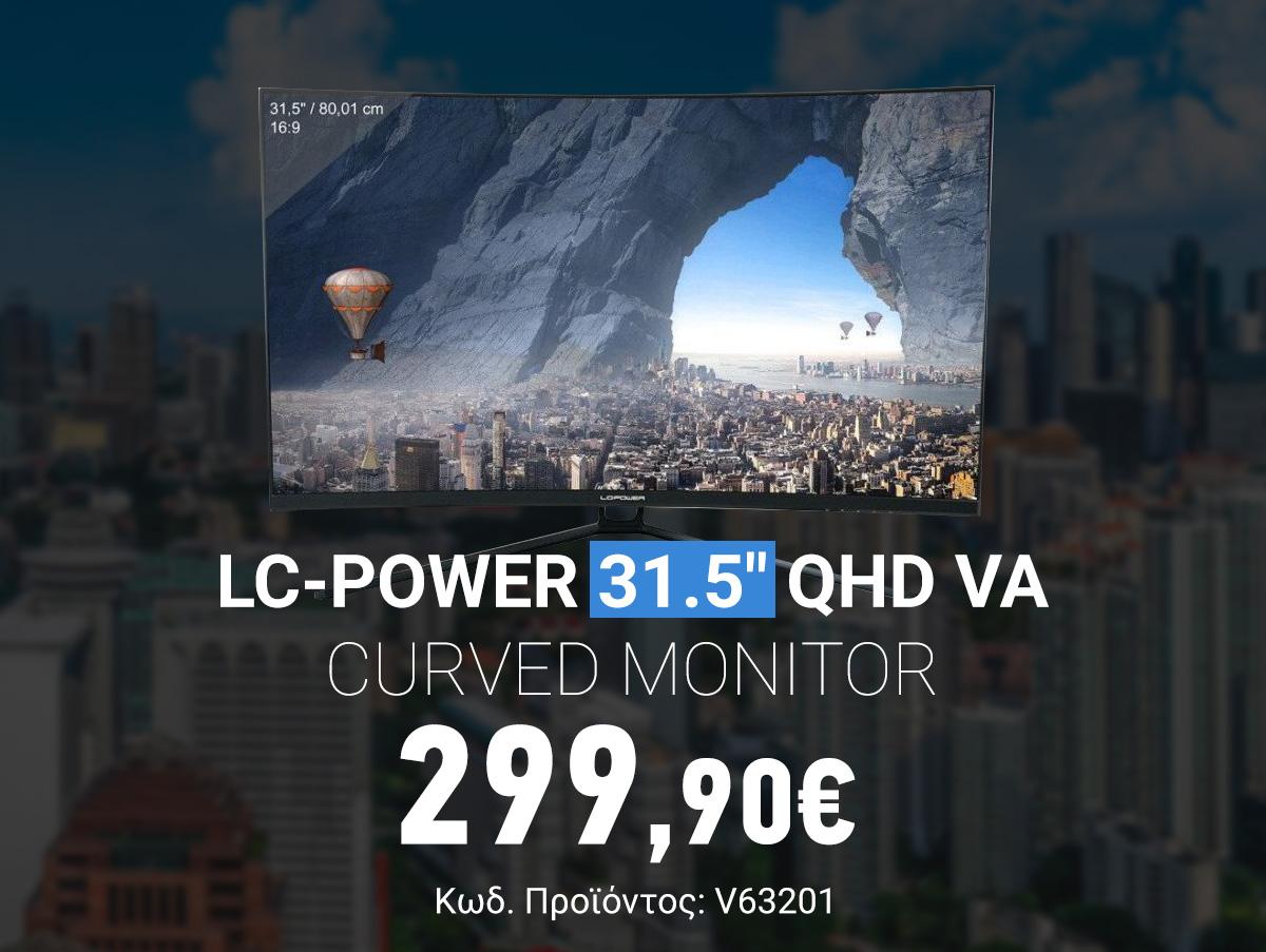 V63201 LC-Power 31.5 QHD VA Curved Monitor LC-M32-QHD-144-C