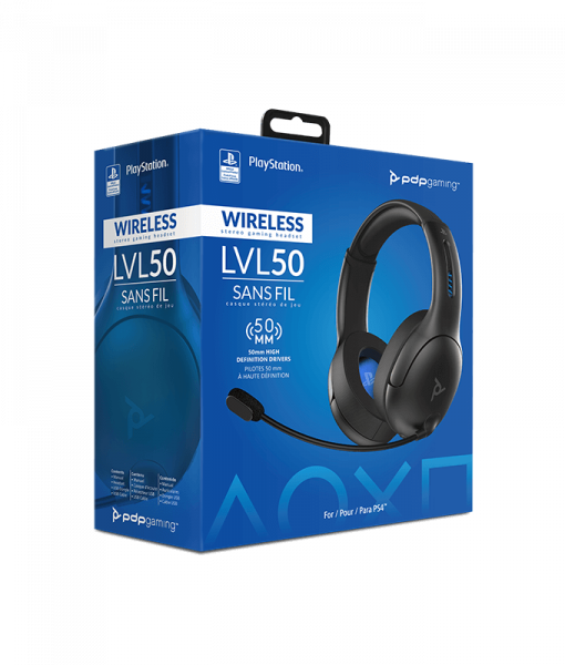 PDP LVL50 Wireless Headset for PS4 Grey 051-049-EU-BK_7
